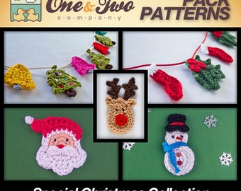 Combo Pack - Special Christmas Collection for 13.50 Dollars - PDF Crochet Pattern - Instant Download - Ornament Christmas Garlands