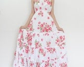Lady Party Sexy Red Roses Maxi Dress Free Size Fit All (M006) B