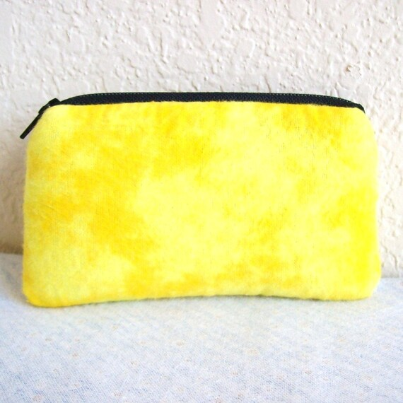 Yellow Tie Dye Flannel Padded Pipe Pouch 5.5""
