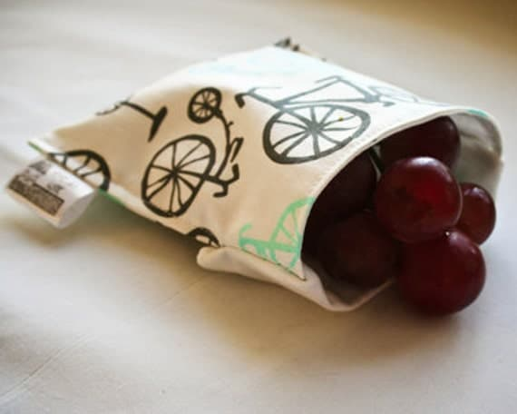 50% OFF 4x5 Reusable Snack Bag - Bicycles
