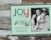 JOY Christmas Digital Holiday Card  - Customizable with scripture reference & photo (Matthew 2:10)