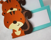 Woodland Squirrel Food Tags Place Holder Set of 12 By Your Little Cupcake