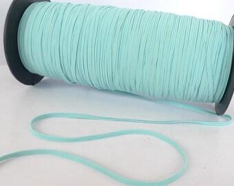 5 yards - 1/8 inch Sky Blue Elastic band - Stretch Elastic - Bookbinding - Headbands - Hair ties