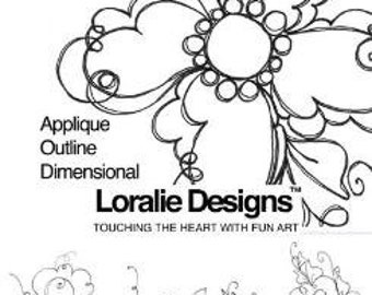 Frilly Flowers II Embroidery Design Collection - CD