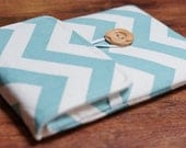 Kindle Fire Cover, Nexus 7 Cover, Kindle Keyboard, Nexus 7 Case, Blackberry Playbook, Kobo Vox Cover, Kindle Fire Case - Light Blue Chevron