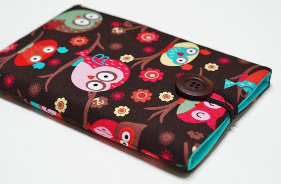 Kindle Paperwhite Case, Kindle Cover, Kindle Paperwhite Cover, Kindle Case, Kindle 4 Cover, Kindle Touch Case, Kobo Touch - Owls on Trees
