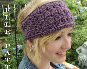 Crochet PATTERN --Star Stitch Headband (Adult and Children sizes)