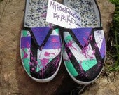Women's size 7 Shoes Splatter Paint
