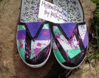 Women's size 7 Shoes Splatter Paint