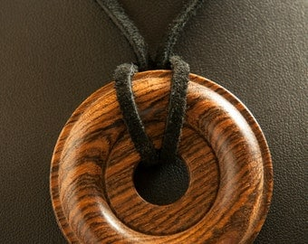 Handcrafted bocote pendant