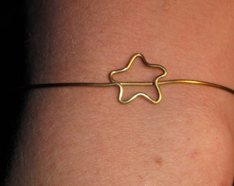 Wire Wrapped Star Adjustable Cuff MADE TO ORDER