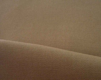 Pale khaki, wide, medium weighted canvas, thick, fat quarter, pure cotton fabric