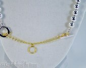 Necklace or Bracelet Gold Extender-For Toggle Clasp