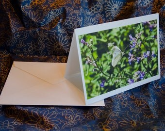 "One single, 5 1/2 x 7 3/8 Blank Photo Notecard with Envelope, ""Leap of Faith"""
