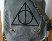 Harry Potter Deathly Hallows Canvas Messenger Bag Laptop Bag