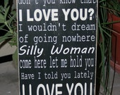 Crazy Girl Lyrics hand painted wood sign