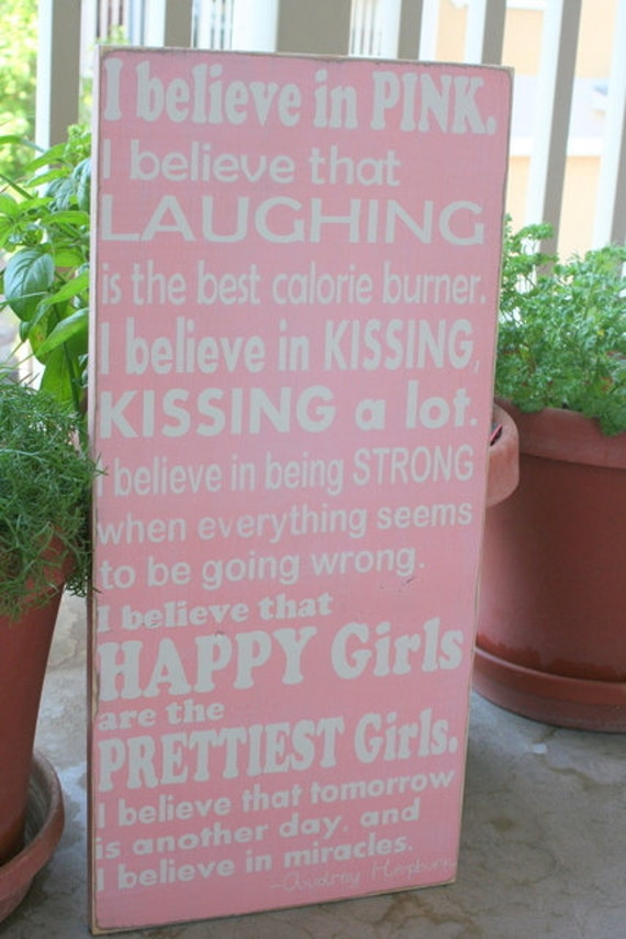 Large Audrey Hepburn Quote hand painted wood sign