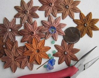 Vintage Copper Colored Metal Flower