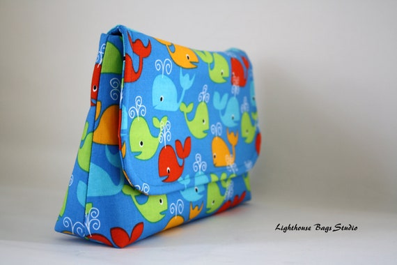 Diaper Clutch - Dolphins