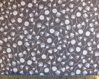 YARD Falling Flowers Grey Fabric