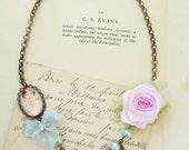 Romantic charm necklace shabby chic jewelry
