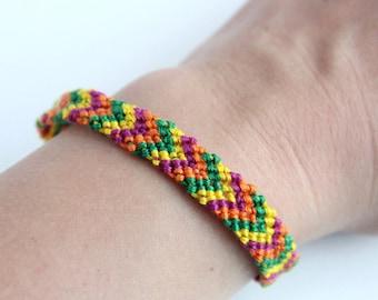Bright Chevron Bracelet,  Braided Friendship