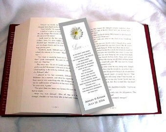 100 White Daisy Wedding Bookmarks Favor
