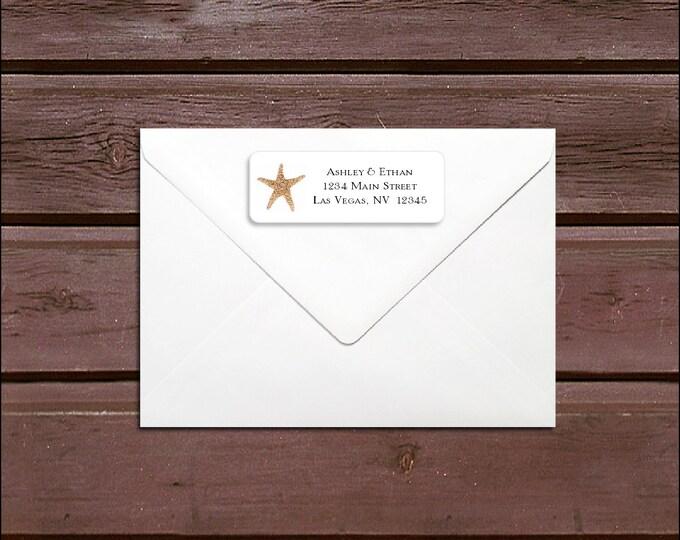 100 Beach Wedding Address Labels. Personalized self stick label