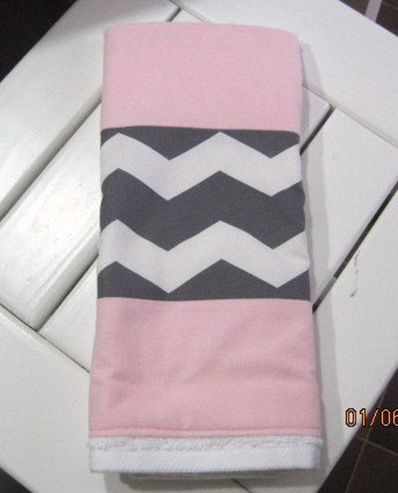 Pink And White Bathroom: Items Similar To Bathroom Hand Towel-Chevron Or Zig Zag
