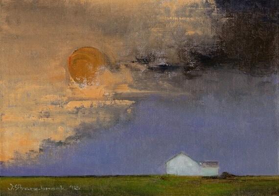 Hecla, South Dakota - Original Oil Painting
