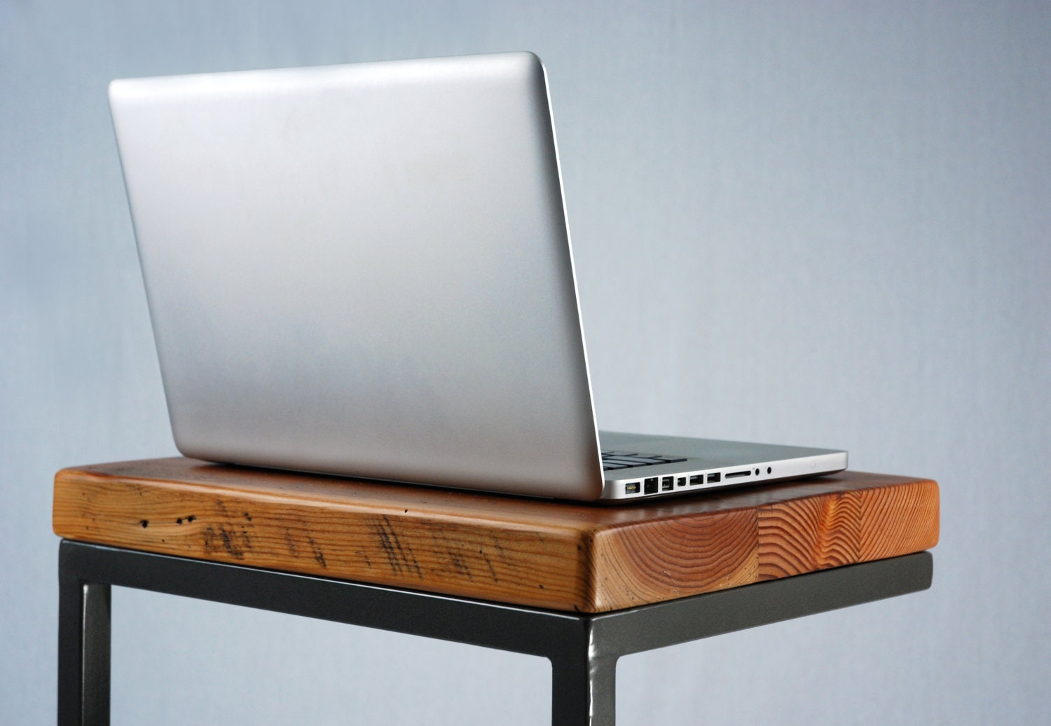 Industrial Reclaimed Timber Laptop Table