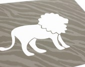 Lion Art Print / Wild Animal Print Set / 8x10 Safari Nursery Art / Choose your Colors and Background