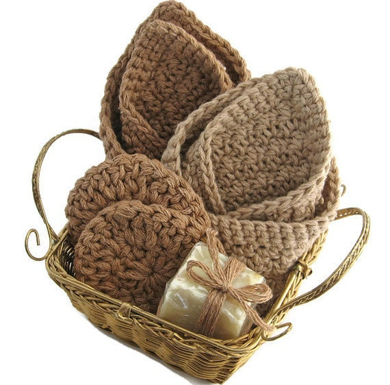 Handmade Basket Gifts : Items similar to organic cotton spa gift basket handmade