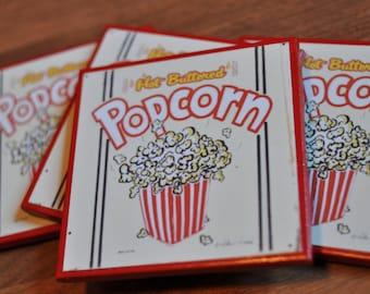 Movie Night/Popcorn Coasters