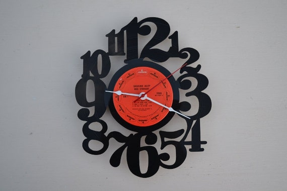 Vinyl Record Album Wall Clock (artist is Rod Stewart)