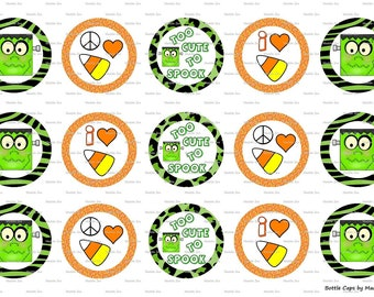 "15 Too Cute To Spook Digital Download for 1"" Bottle Caps (4x6)"
