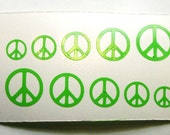 Full Set of 50 Peace Sign Nail Stickers