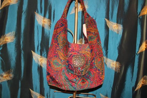 Purse, Paisley Corduroy Hand Bag