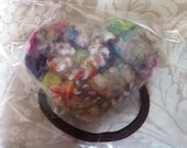 Hair bobble ponytail holder: Felt Heart