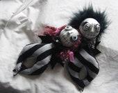 Ooak Wierd Cuddly Art Dolls Izzy And Stitch