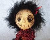 Boo Ooak Wierd Art Doll Dead Girl Gothic Doll Zombie