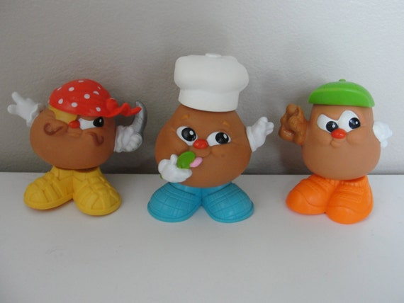 Vintage Potato Heads McDonald's Happy Meal Toys - Set of 3 1986