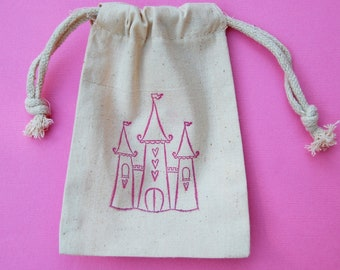 Princess Castle Muslin Bags / Set of 25 / Perfect for Birthday Parties