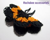 Monarch Butterfly, Crocheted Hair Accessories, Bobbypin, Brooch