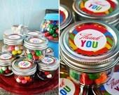 Rainbow Art- Thank you tags-  Rainbow art party, art party, rainbow party