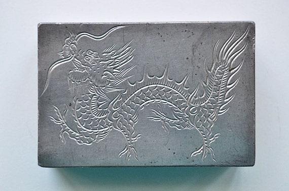 Rare Antique  Dragon Matchbox Kut Hing Swatow