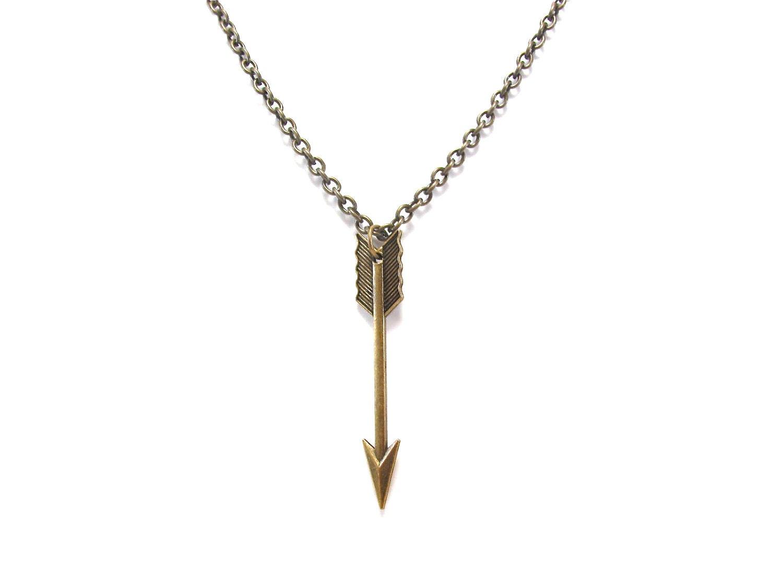 chevron arrow necklace arrow jewelry large by