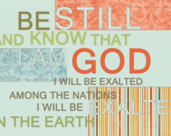 Be Still and Know I am God art canvas