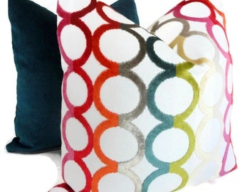 Jonathan Adler Decorative Pillow Cover Multicolor Ringleader , Accent Pillow, Throw Pillow, Pillow Cover, Toss Pillow, Decorative pillow