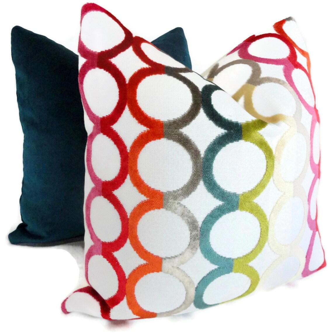 jonathan adler decorative pillow cover multicolor ringleader - 🔎zoom